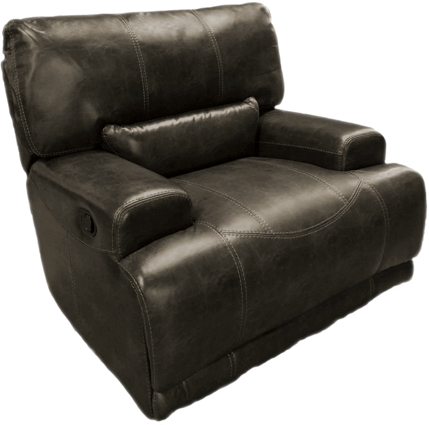 Wustrow Umber Italian Leather Power Reclining Sofa: Furniture Clearance Center