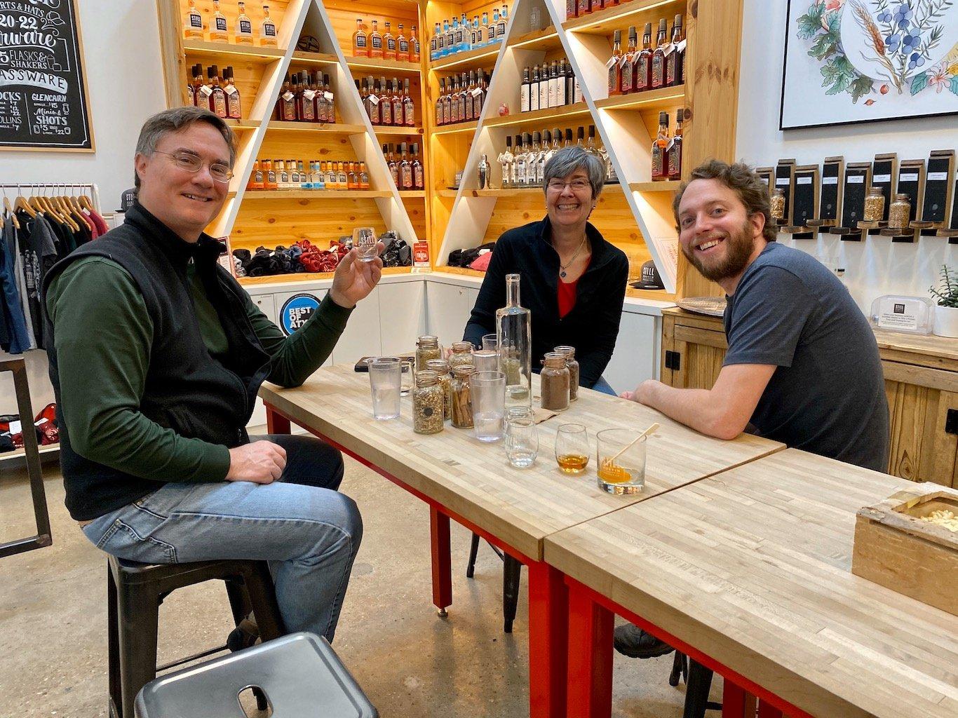 Tasting Area -Still Austin Whiskey Co