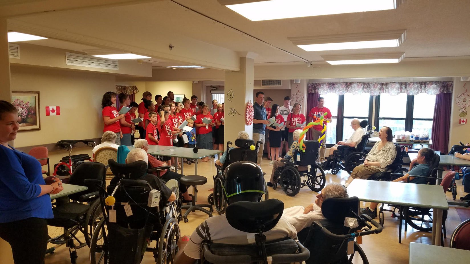 "Love Works Outreach ~ ""Sing Song"" at extended care facility"