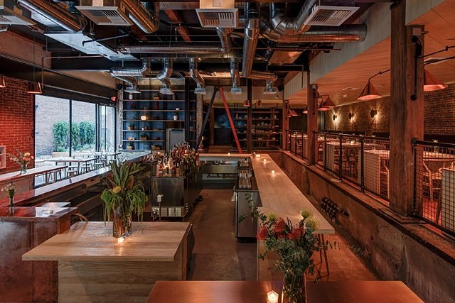 DTLA Copper Restaurant - Tables, Chairs, Stools, & Lighting