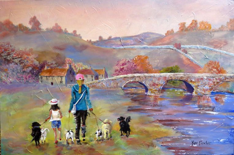 A Walk by the River - SOLD