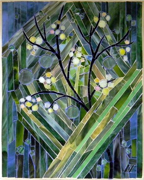 """""""Spring Tree"""" by Nataliya Guchenia Size - 14-3/4""""H X 12""""W $600.00"""