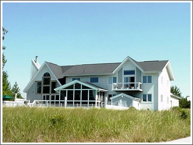 View of beach house||||