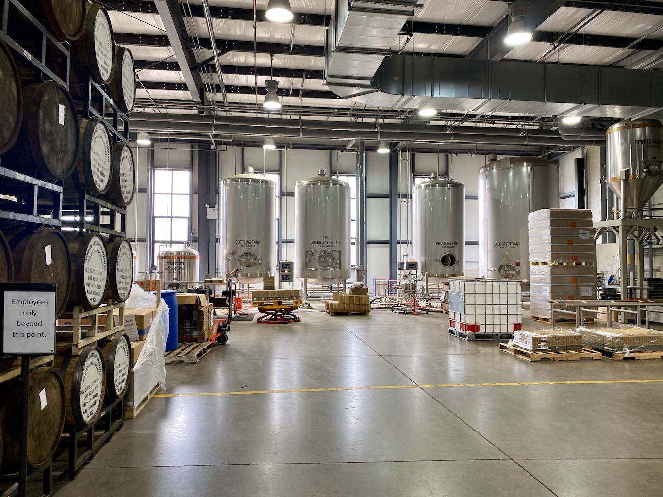 Barreling & Bottling Area -Lexington Brewing & Distilling Co (Town Branch Distillery)