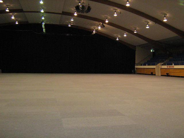 Carpeted stadium
