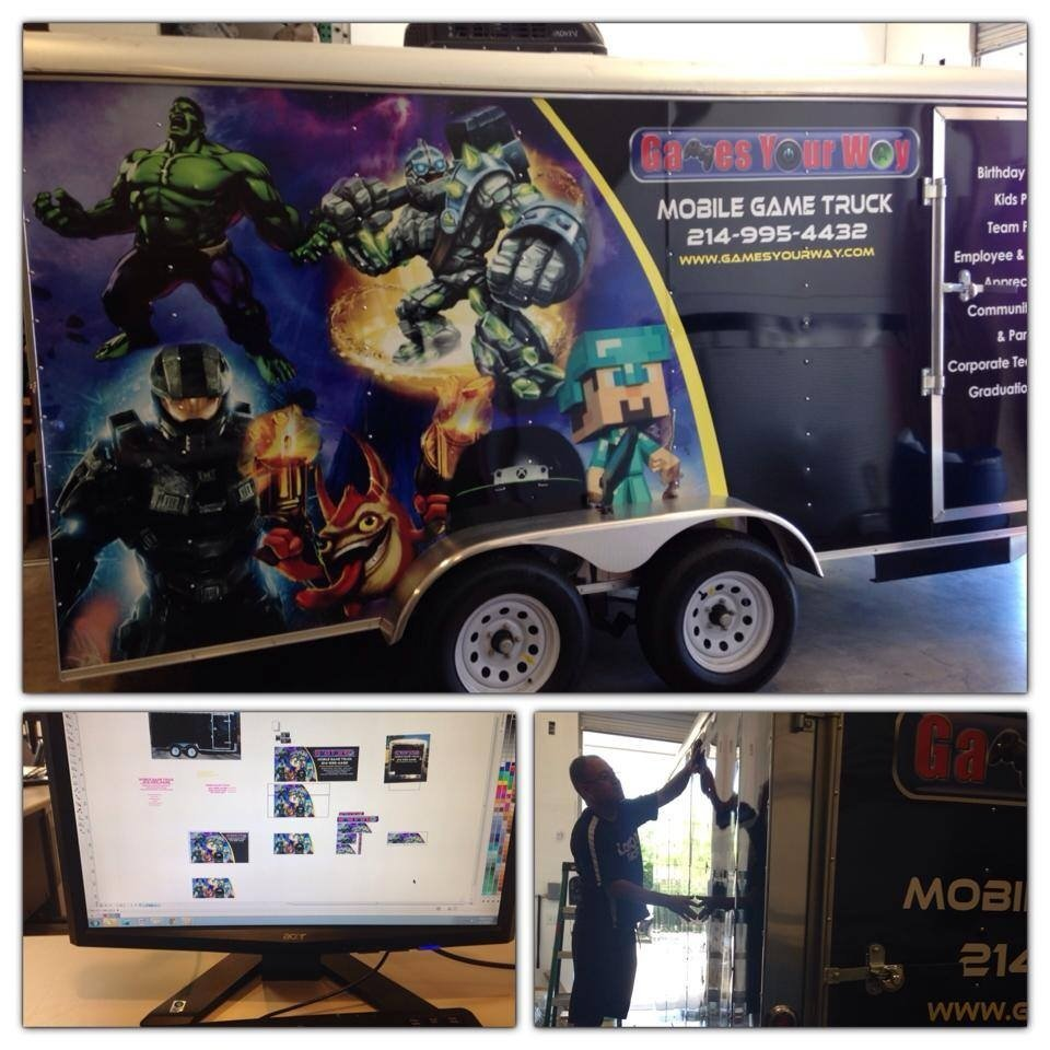 Mobile Game Truck Wrap