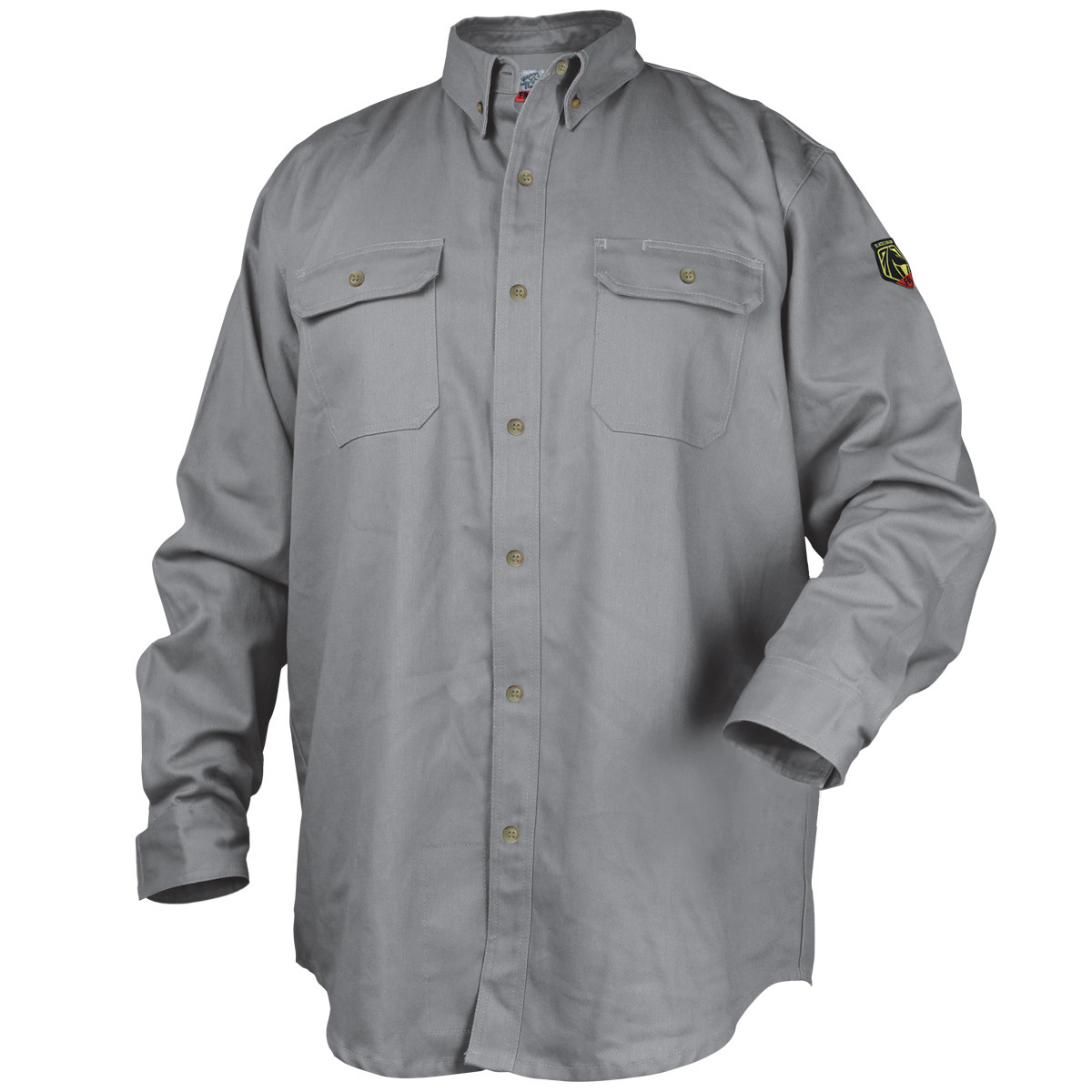 4 Black Stallion FR Work Shirt Gray