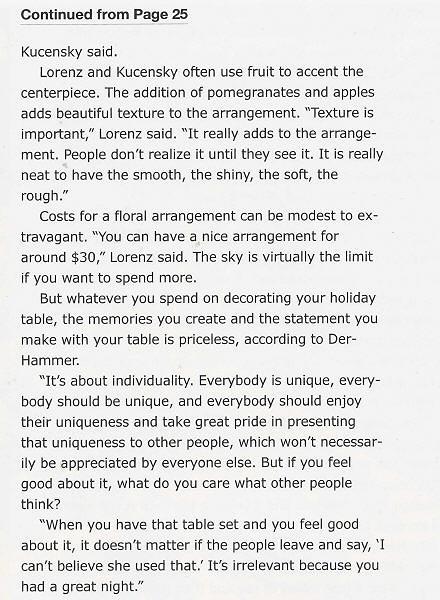 Lakeshore Life & Style Magazine, Winter 2005, Page 26