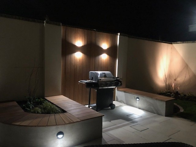 BBQ area with built in seating