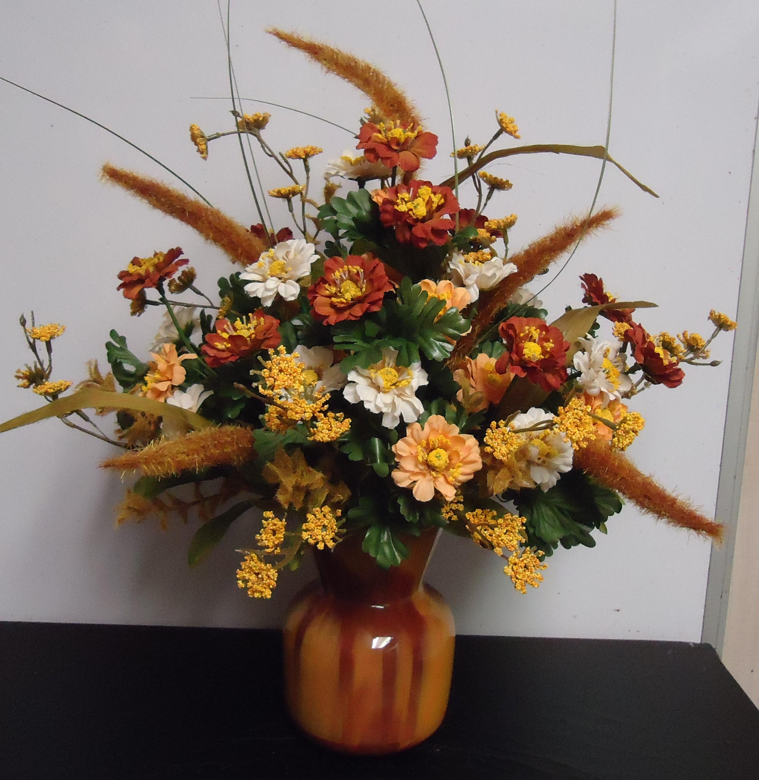 "(15)  ""SILK"" Vase Arrangement $25.00"