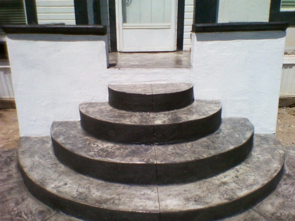 Stained Concrete Steps