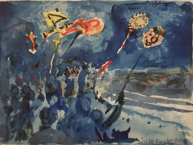 Taylor, Lighted Kites Night, 4.5x6, WC