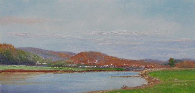 74. Cumberland, from W. Industrial Blvd., 4x8 oil on panel
