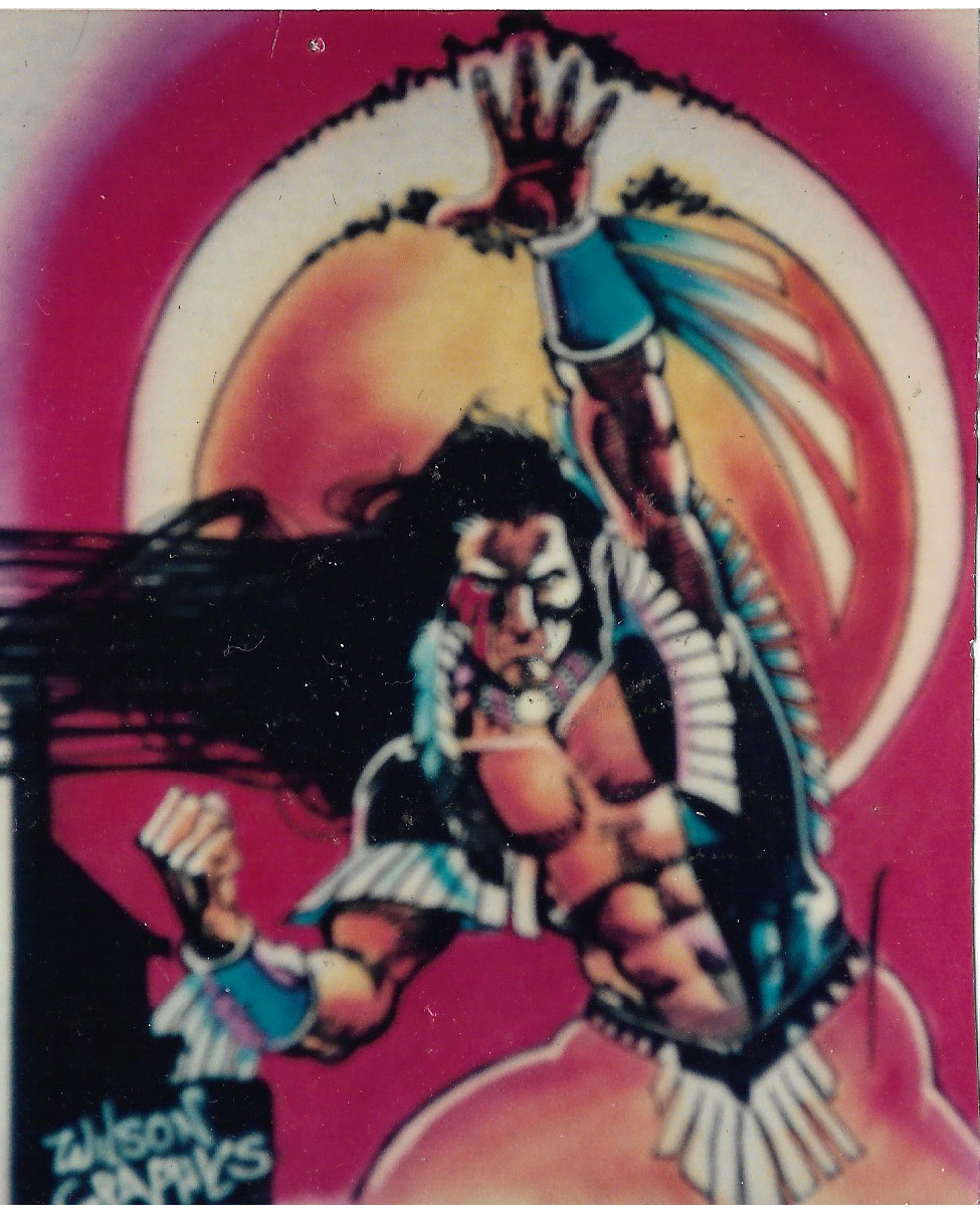 Mike Grell's Shaman... Createx Colors on T-shirt