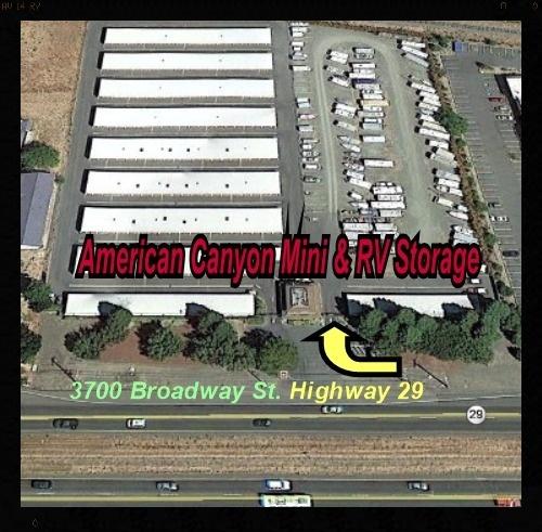 American Canyon Mini & RV aerial view