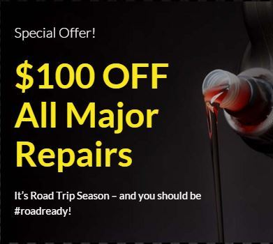 $100 OFF All Major Repairs