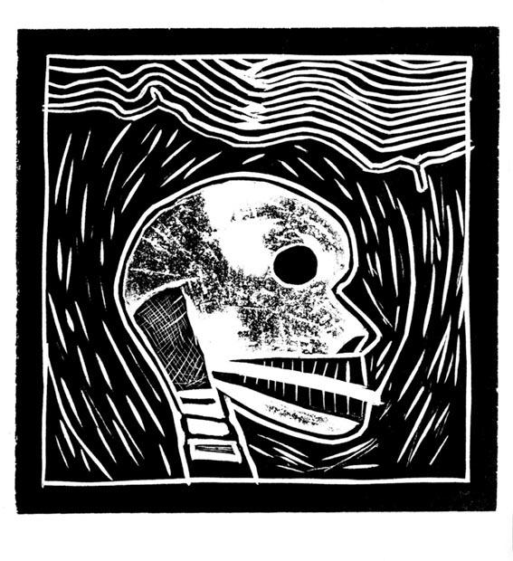 La Muerte, 2003 Grabado en madera sobre papel 20 x 20 cm