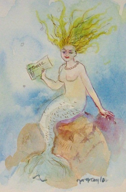 "Michele Martin Taylor, Titanic, 7"" x 5"" WC"