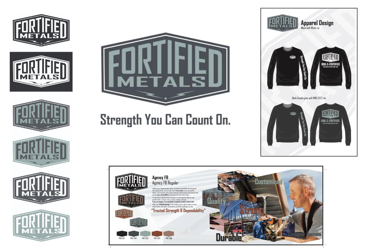 Fortified Metals Naming, Brand Design and Website