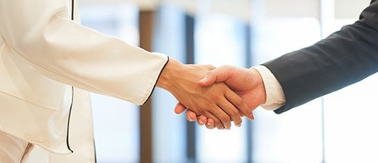 Investor Businessman Handshake with Partner