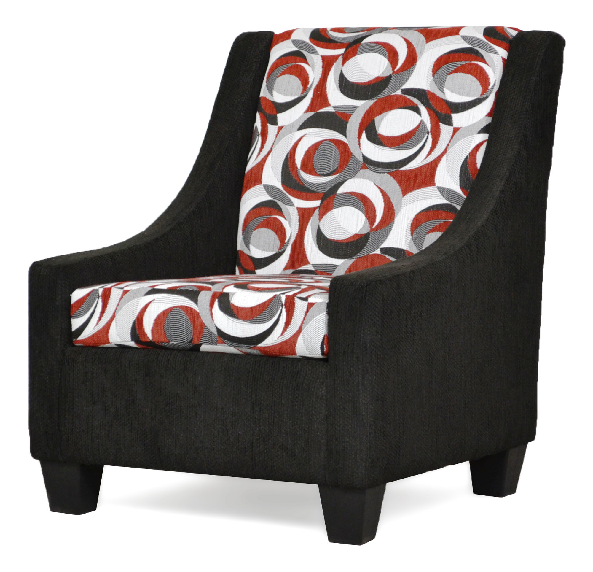 390 Luna Caviar Accent Chair