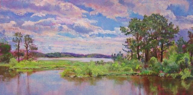 12. Chesapeake Marshes, 8x16 oil on panel