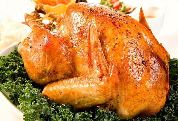 Roasted turkey with dressing
