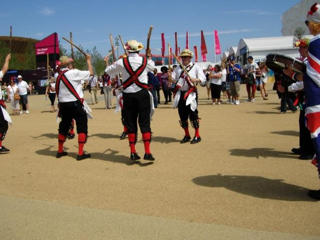 Merrydowners performing in the Olympic Park