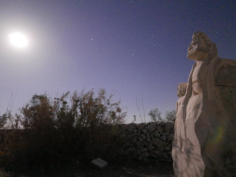 """""""L'éveil """"réalisé en Sicile été 2017 Photo prise de nuit par C.Keyser"""