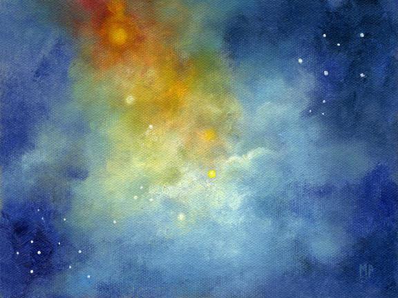 """Starlight ~ 6"""" x 8""""   Oil on Canvas Panel"""