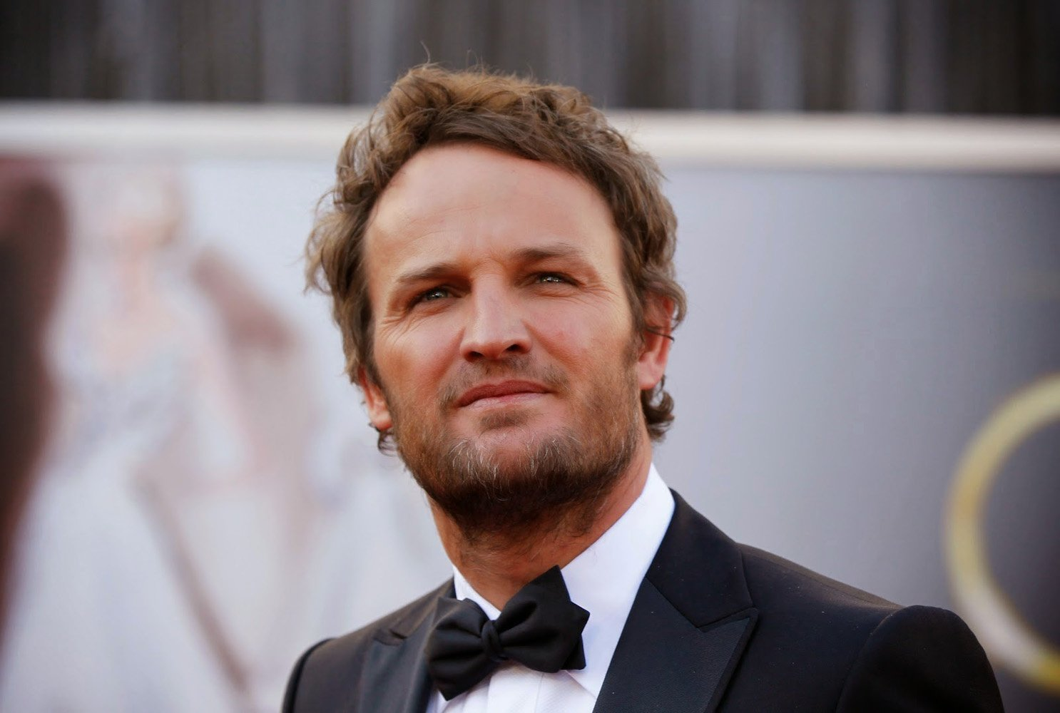 Jason Clarke, hair styled by Nathan Sager.