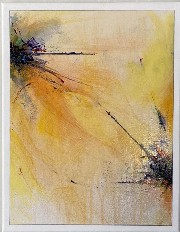 "Abstract Acrylic 16""X20"" $125."