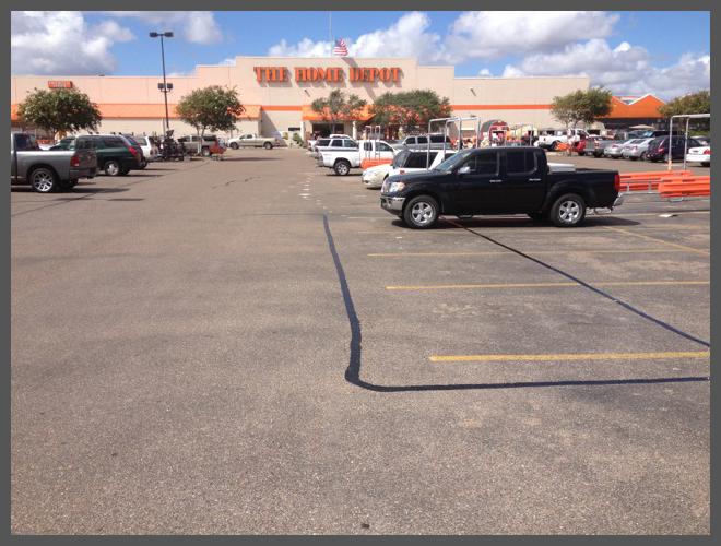 Parking lot cracks sealing services||||
