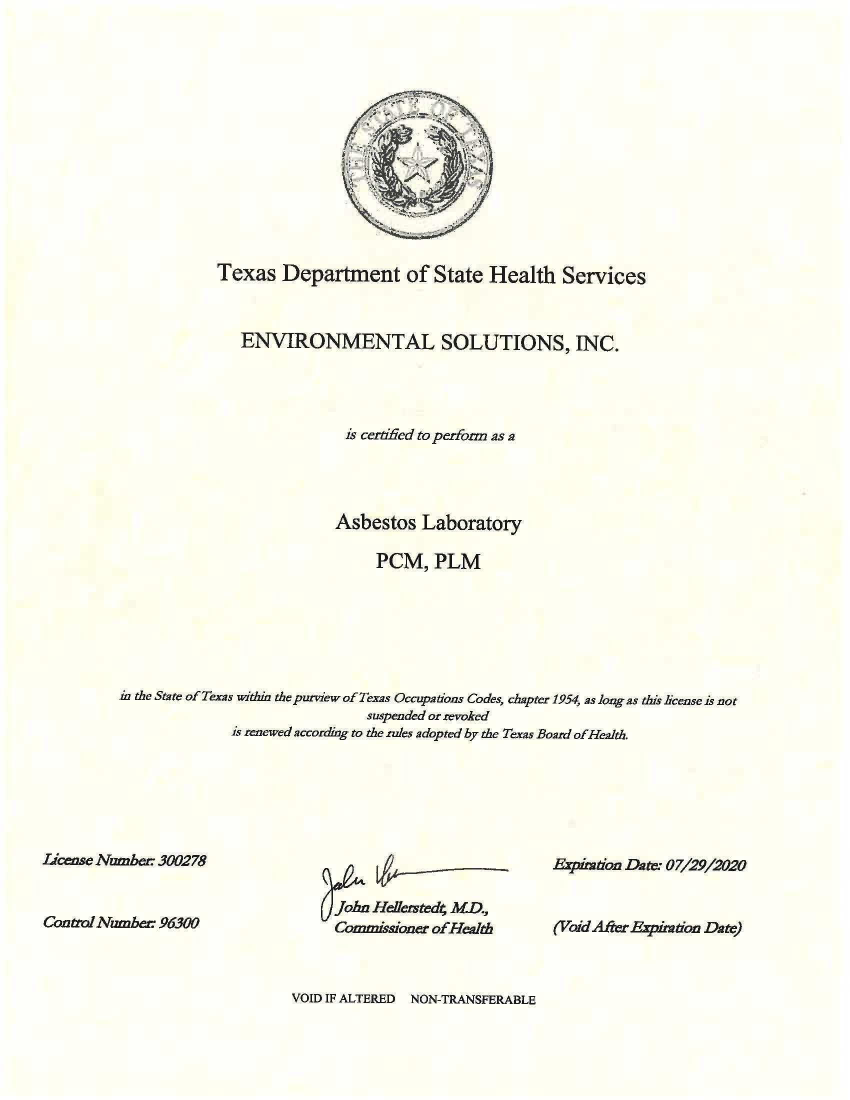 Licensed PCM Laboratory License