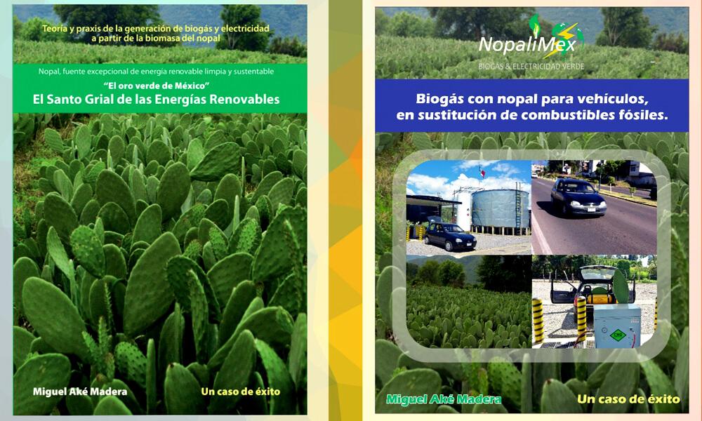 Libros publicados por Miguel Aké sobre Nopalimex y las energías orgánicas