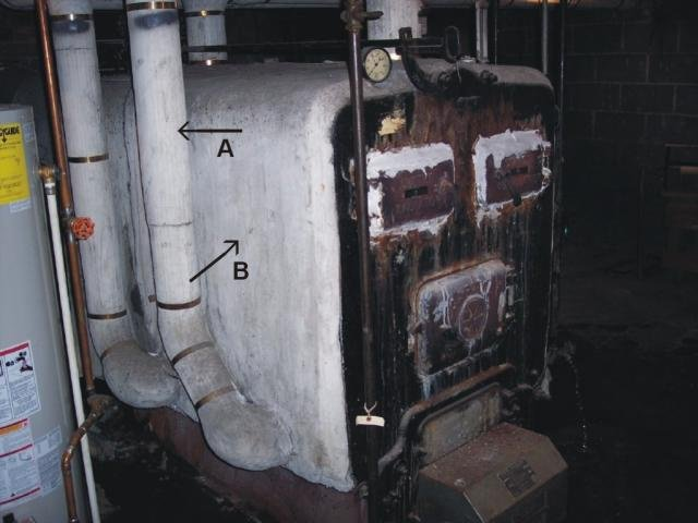 Boiler Covered With Asbestos