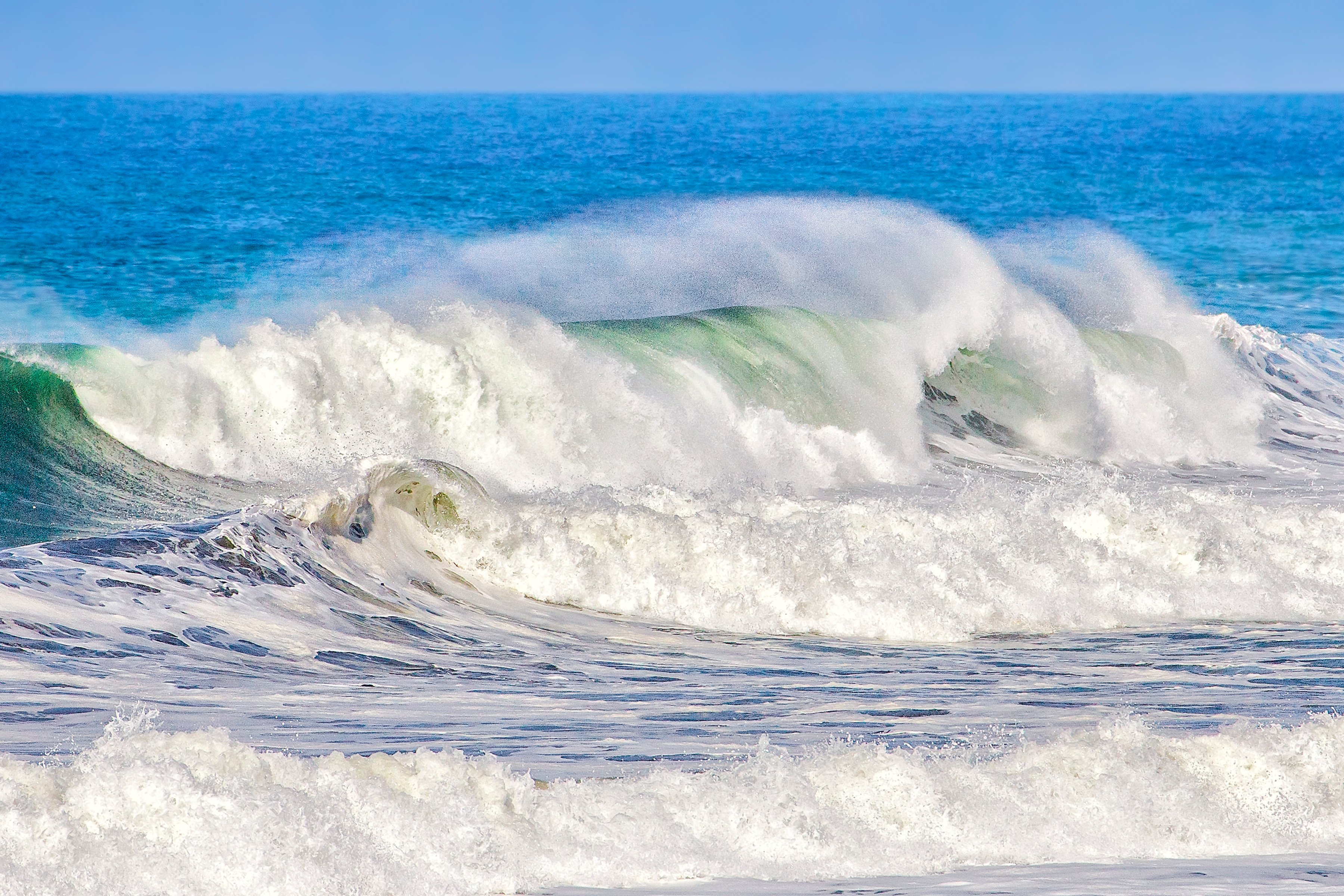 PACIFIC WAVE - My wife and I had a grand time watching some magnificent wave action along the coast of California close to Half Moon Bay.