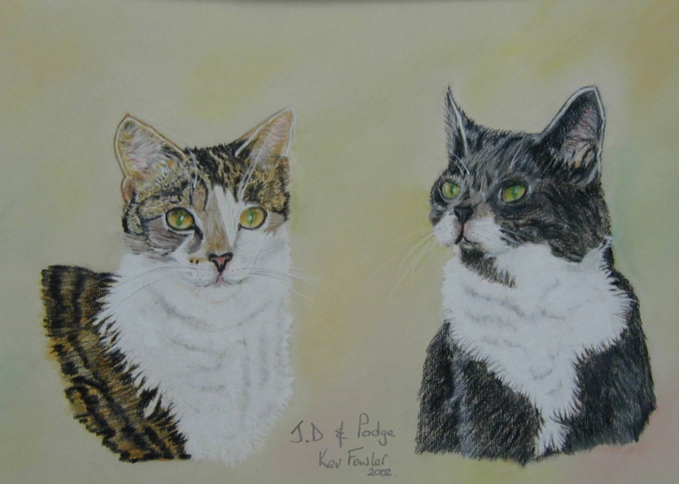 JD and Podge ... Pastel Pencils SOLD