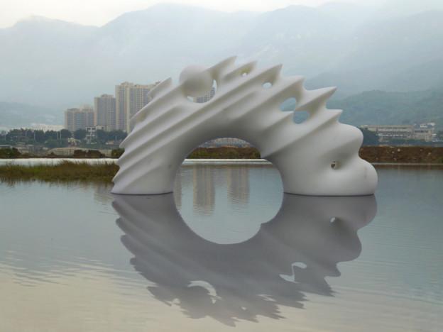 White Galaxy - marble - Flower park - Fuzhou City - China