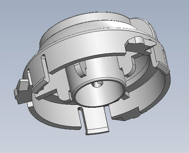 Bottom view: Male version, Selector/Guide