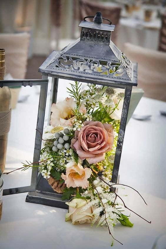 Lantern with Roses