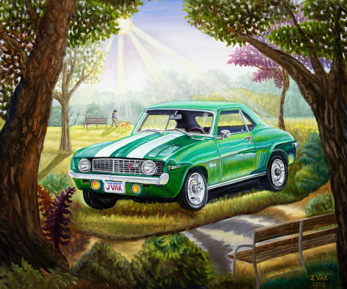 1969 Cherolet Camero 20 x 24 Original Oil      $1200        2019