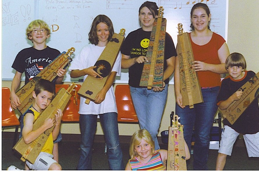 First Summer Youth Camp Class for mountain dulcimers 2005