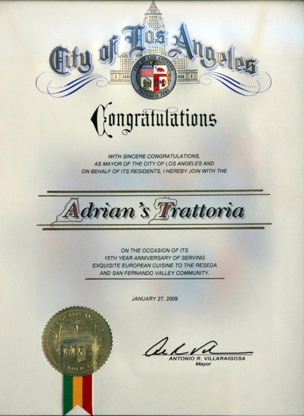 15 Year Anniversary Certificate