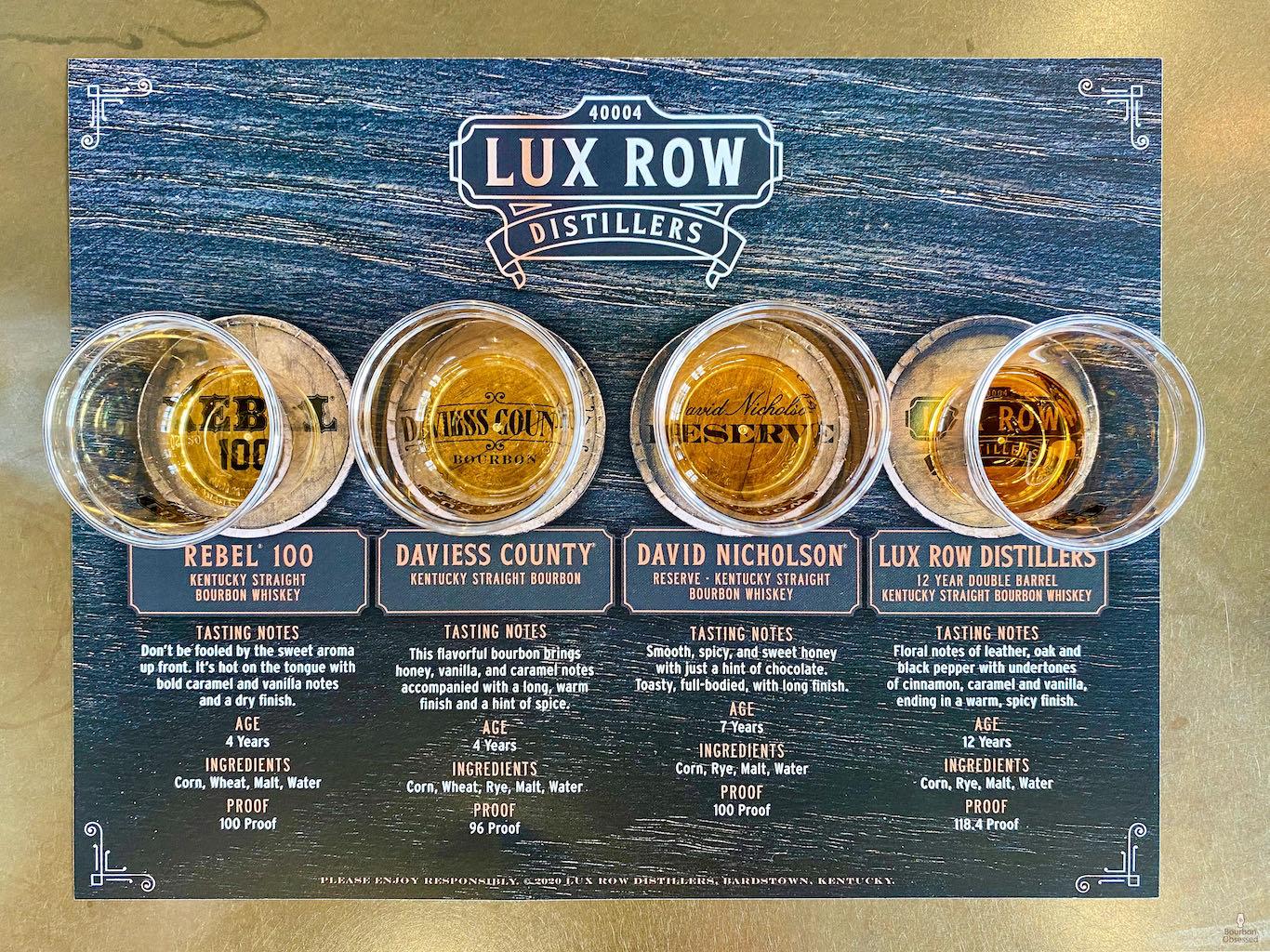 Tasting  - Lux Row Distillers