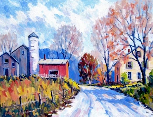 New England Farm, 18 x 24 Oil
