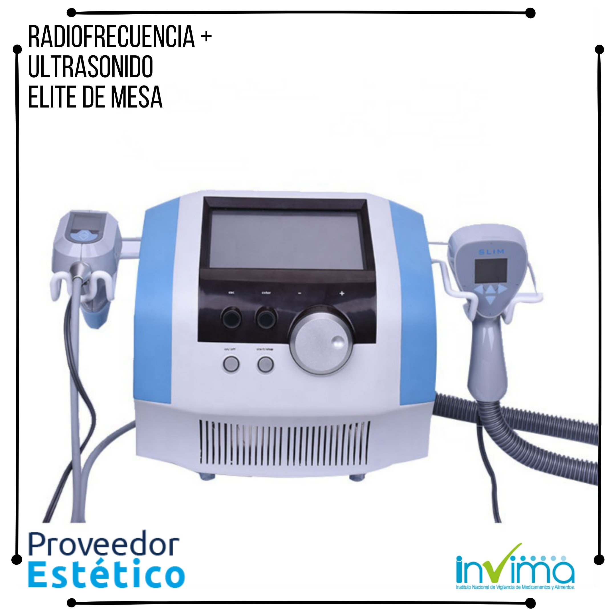 Radiofrecuencia Ultrasonica Elite de Mesa
