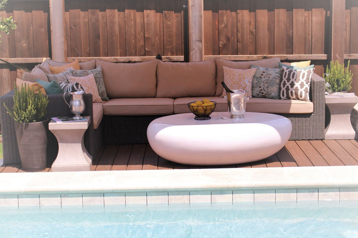 Poolside Seating Area