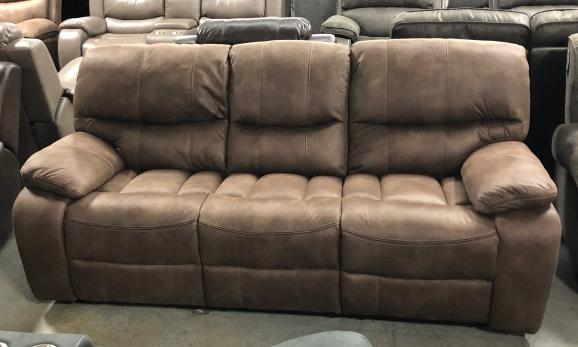 6715 Reclining Sofa Brown