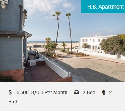 H.B. Apartment Steps to the Beach! Large, beautifully remodeled beach apartment with air conditioning 1 door to the beach! Sleeps 4 in beds. 1100SF with 2-car parking. Walk to everything, the pier, downtown, restaurants, and shops!…